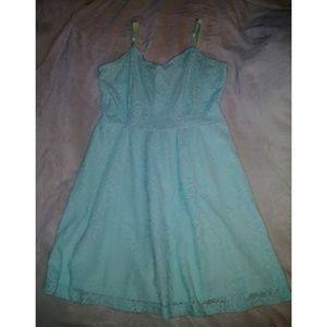 Light Sea Foam Mini Dress